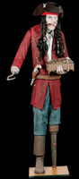 Life Size Animated Captin Flog Em Pirate Halloween Prop Decor