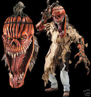 Huge Extreme Bad Seed Pumpkin Halloween Mask Adult Creature Reacher Costume