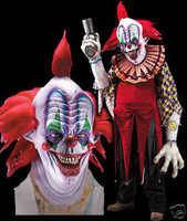 Huge Extreme Adult Giggles Clown Halloween Mask Creature Reacher  Costume