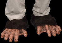 Chimp Monkey Ape Shoe Covers Halloween Costume Feet Accessories Shoe Covers