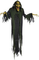 "72"" Life Size Animated Hanging Wicked Witch Hag Halloween Prop props Decoration"