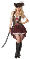 Swashbuckler Pirate Wench Woman Dress w/ Accessories Halloween Costume