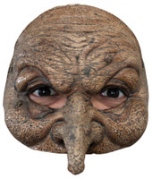 Comfortable Realistic Wicked Witch Wizard Face Latex Halloween Costume Half Mask