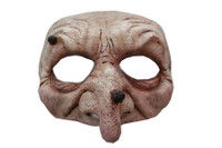 Comfortable Realistic Forest Witch Wizard Face Latex Halloween Costume Half Mask