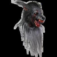 Extreme Black Wolf Rotting Zombie Werewolf Life Like Halloween Costume Mask