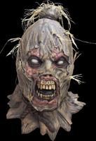 Scareborn Gruesome Scarecrow Zombie Corpse Halloween Costume Mask