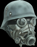 WW2 Nazi Chemical Warfare Gas Hazmat Hazard Chemical Halloween Costume Mask