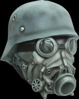 WW2 Nazi Chemical Warfare Gas Hazmat Hazard Chemical Halloween Costume Mask