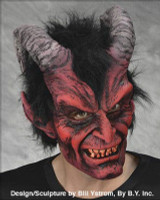 Realistic Horns Evil Devil Menecing Demon Diablo Creature Halloween Costume Mask