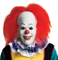Pennywise w/ Hair Stephen King's Movie It Novel Clown Halloween Costume Mask
