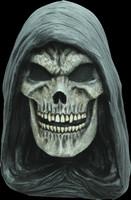Grim Reaper Skull Hooded Skeleton Halloween Costume Mask