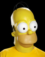 Homer Simpson Simpsons Barts Dad Vinyl Halloween Costume Mask