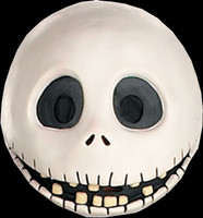 Jack Skellington Nightmare Before Christmas Vinyl Halloween Costume Mask