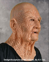 DOA Old Wrinkled Man Creepy Super Soft Moving Mouth Halloween Costume Mask