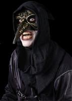 Venetian Black Raven Carnevale w/ Hood Plague Halloween Costume Face Mask