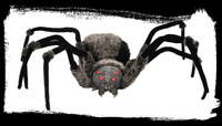 Giant 4.5' leg span Spider Poseable Legs Flashing Eyes Halloween Prop Decoration