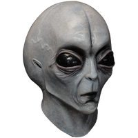 Area 51 Grey Alien UFO Spaceman Creature Halloween Costume Mask