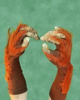 Orangutan Ape Monkey Gloves Monster Arms Hands Halloween Costume Accessories
