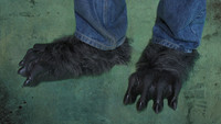 Killer Wolf Black Werewolf Wolfman Hairy Wolf Monster Claws Feet Shoes Halloween Costume Shoe Covers Accessories