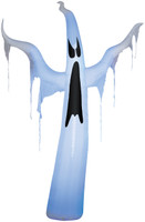 12' tall Lighted Draped Ghost air blown airblown Inflatable Halloween Yard Decor Decoration