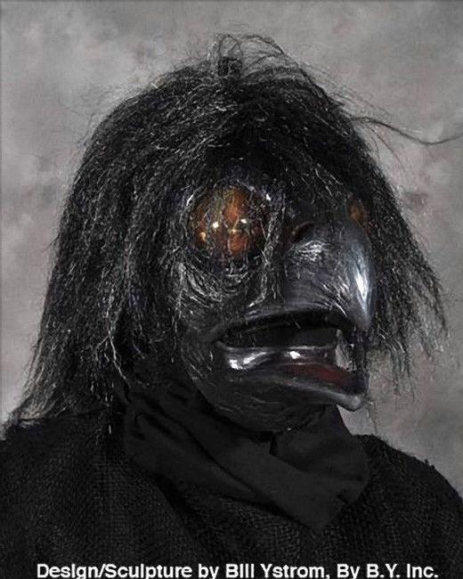 Realistic Scary Halloween Masks.Ravenous Raven Bird Crow Black Bird Realistic Scary Halloween Costume Mask