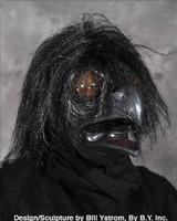 Ravenous Raven Bird Crow Black Bird Realistic Scary Halloween Costume Mask