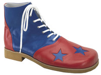 Pair of Blue & Red Professional Deluxe Clown Shoes Halloween Costume accessories