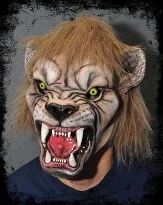 Realistic Scary Halloween Masks.Lion Realistic Scary Halloween Costume Mask