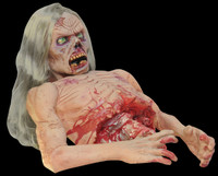 Life Size Animated Twitch Corpse Zombie Torso Gore Gory Halloween Prop