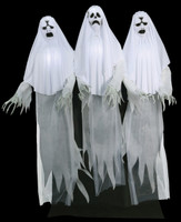 Life Size Animated Spirit Entity Ghost Trio 3 Ghosts Halloween Prop Decor