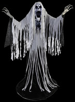 "84"" Life Size Animated Towering Wailing Soul Spirit Ghost Halloween Prop Decor"