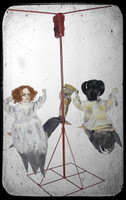 Life Size Animated Ghostly Go Round 3 Victorian Dolls Haunted Playground Halloween Prop Decor