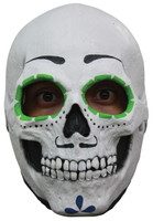 Cartin Sugar Skull Male Very Detailed Halloween Costume Latex Full Overhead Mask