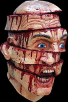 Sliced Gory Murder Victim Creepy Halloween Costume Mask