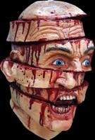 Sliced Gory Murder Victim Creepy Halloween Costume Mask
