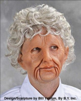 Old Woman Creepy Ugly Super Soft Moving Mouth Halloween Costume Mask