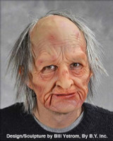 Old Man Creepy Ugly Super Soft Moving Mouth Halloween Costume Mask
