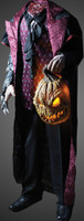 Life Size Headless Horseman holding Jack O Lantern Halloween Prop Decor