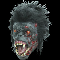 Infected Zombie Chimp Ape Primate Chimpanzee Animal Halloween Costume Mask