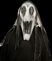 Gaping Mouth Wraith Ghost Creature Halloween Costume Mask