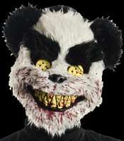 Charles Black and White Teddy Bear Serial Killer Gruesome Vacuum-formed Halloween Costume Mask
