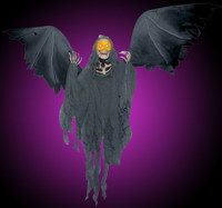"""Animated Flying Reaper 52"""" Wing Span Bat Halloween Prop Decoration"""