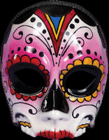 Day of the Dead Sugar Skull Female Halloween Costume Face Mask