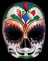 Day of the Dead Sugar Skull Male Halloween Costume Face Mask