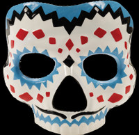 Day of the Dead Sugar Skull Male Halloween Costume Half Face Mask