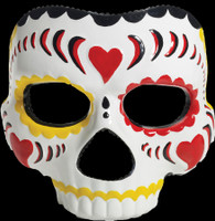 Copy of Day of the Dead Sugar Skull Female Halloween Costume Face Half Mask