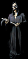 Life like Animated Frightronic 4' Reaper  Halloween Prop Decoration