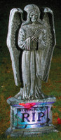 "24"" Gothic Angel Lightup Graveyard Cemetery Halloween Tombstone Headstone Decor Prop"