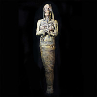 Life Size Ancient Monster Mummy Lab Scene Corpse Halloween Prop
