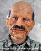 Bad Geezer Creepy Old Man Super Soft Moving Mouth Halloween Costume Mask
